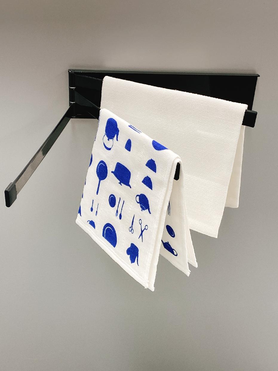 山崎実業(ヤマザキジツギョウ)マグネット布巾ハンガー タワーを使った あんよさんの口コミ画像3