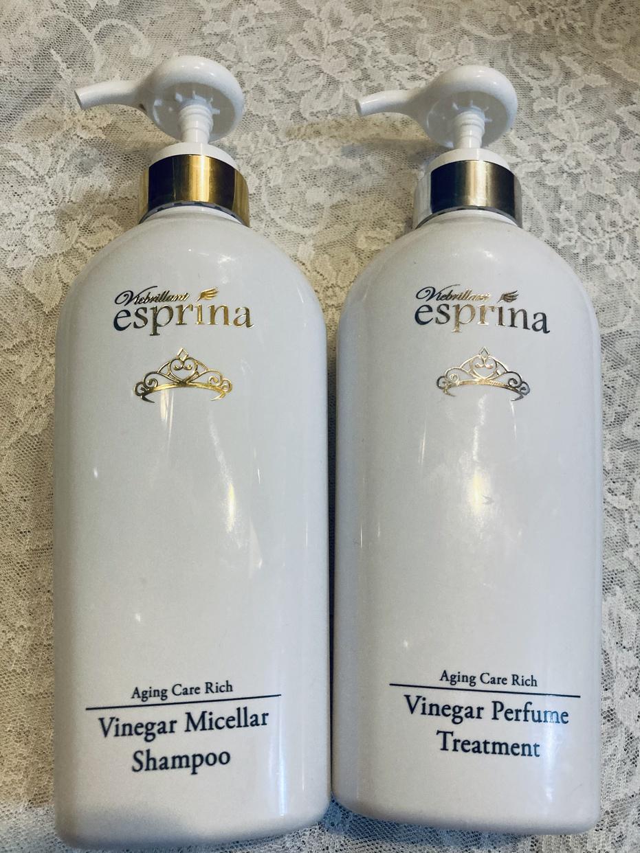 esprina(エスプリーナ) 濃密炭酸ケアリッチ シャンプー&トリートメントセットを使ったJUNKOさんのクチコミ画像