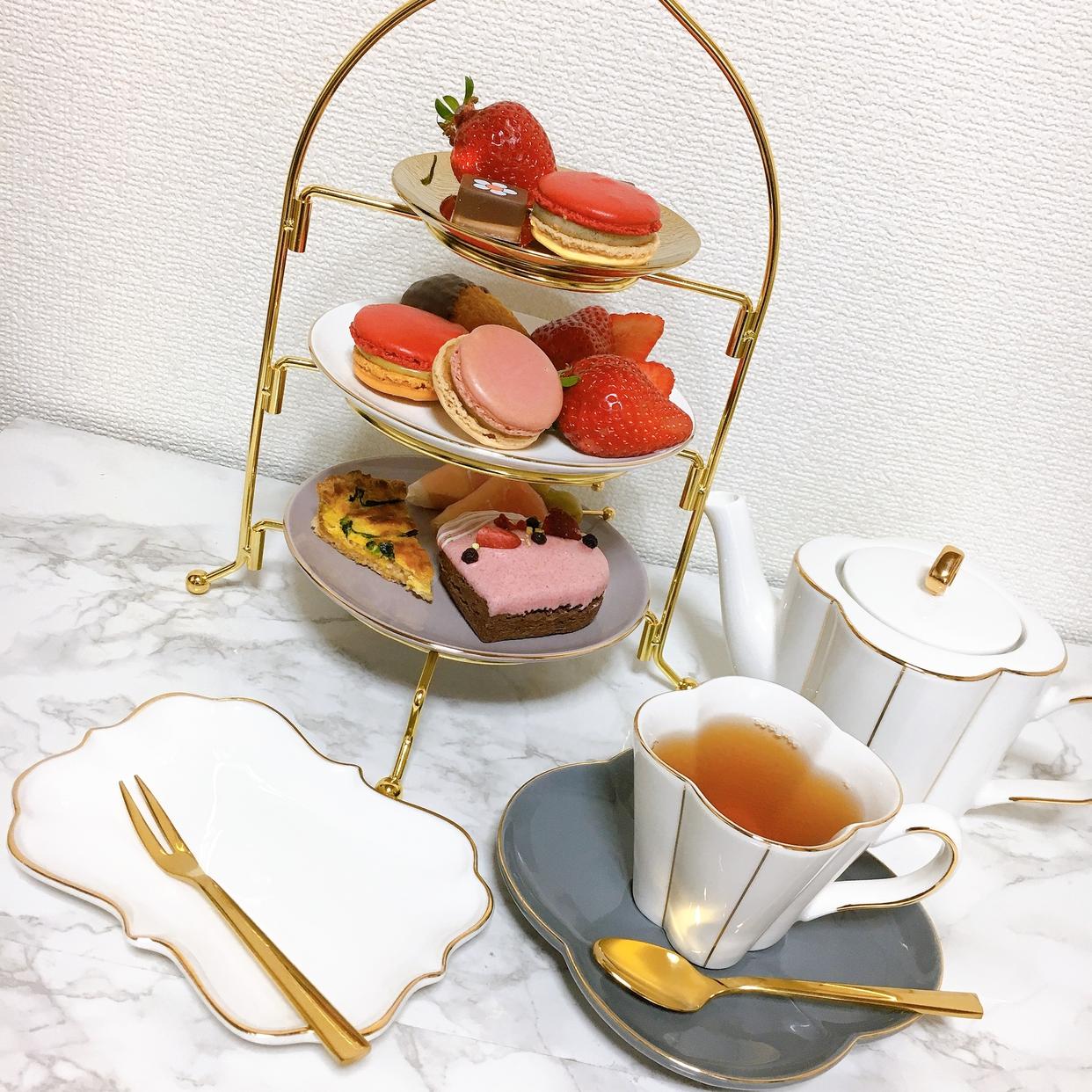 Francfranc(フランフラン)おうちカフェセット 2 personsを使ったりもこんさんのクチコミ画像1