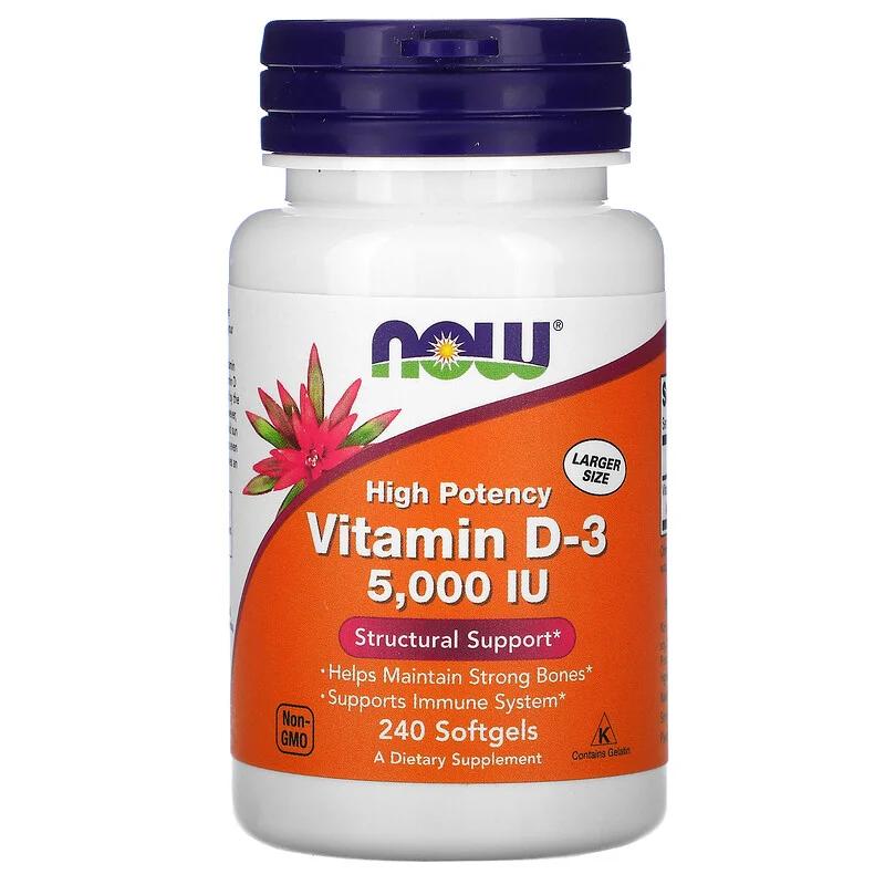 NOW Foods(ナウフーズ) ビタミンD3 5000IUを使ったritaさんのクチコミ画像1