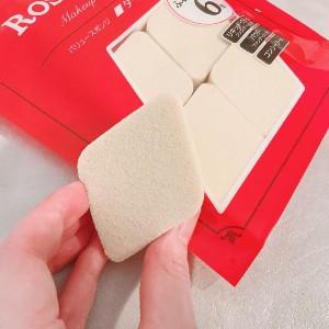 ROSY ROSA(ロージーローザ)バリュースポンジ ダイヤ型タイプ 6Pを使ったなぽりたんさんのクチコミ画像2