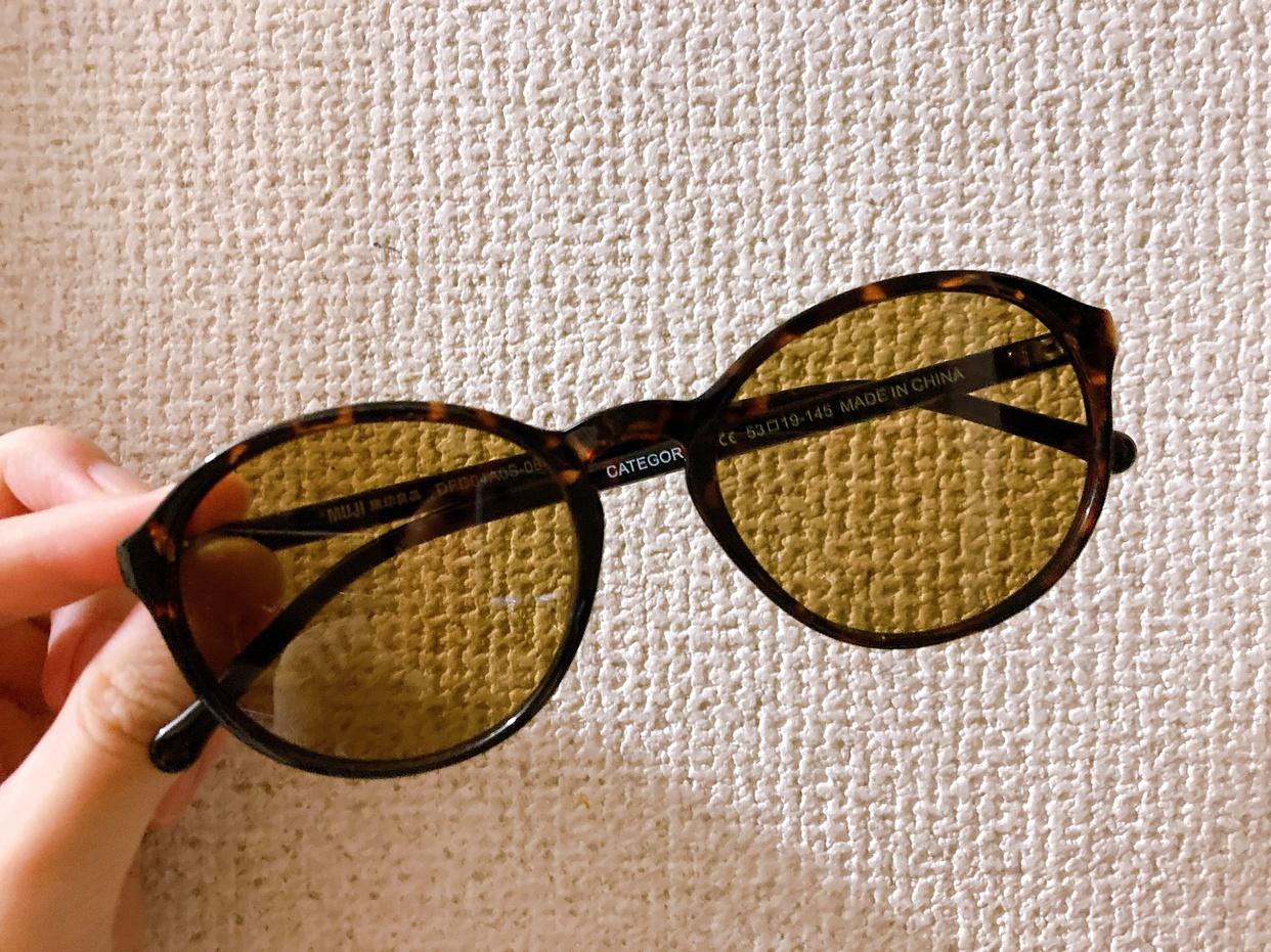 無印良品(MUJI) UV400カット ブルーライト対応 ボストン型サングラスの良い点・メリットに関するyunnyさんの口コミ画像2
