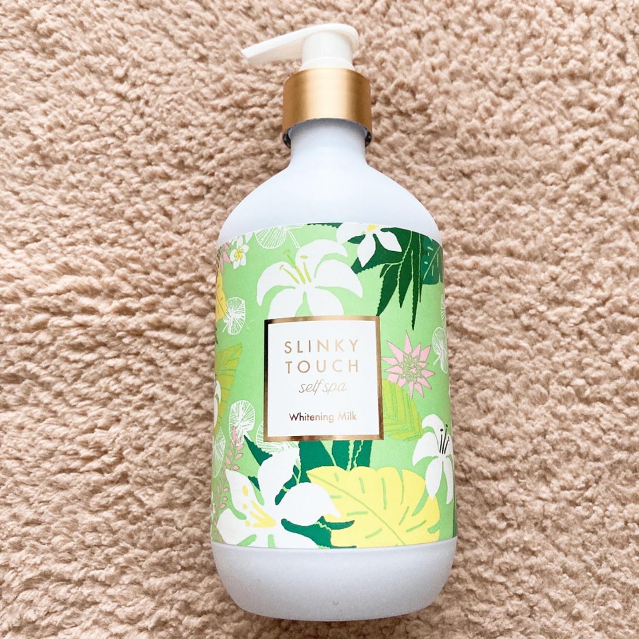 SLINKY TOUCH self spa(スリンキータッチセルフスパ) 薬用美白ボディミルクを使ったyunaさんのクチコミ画像2