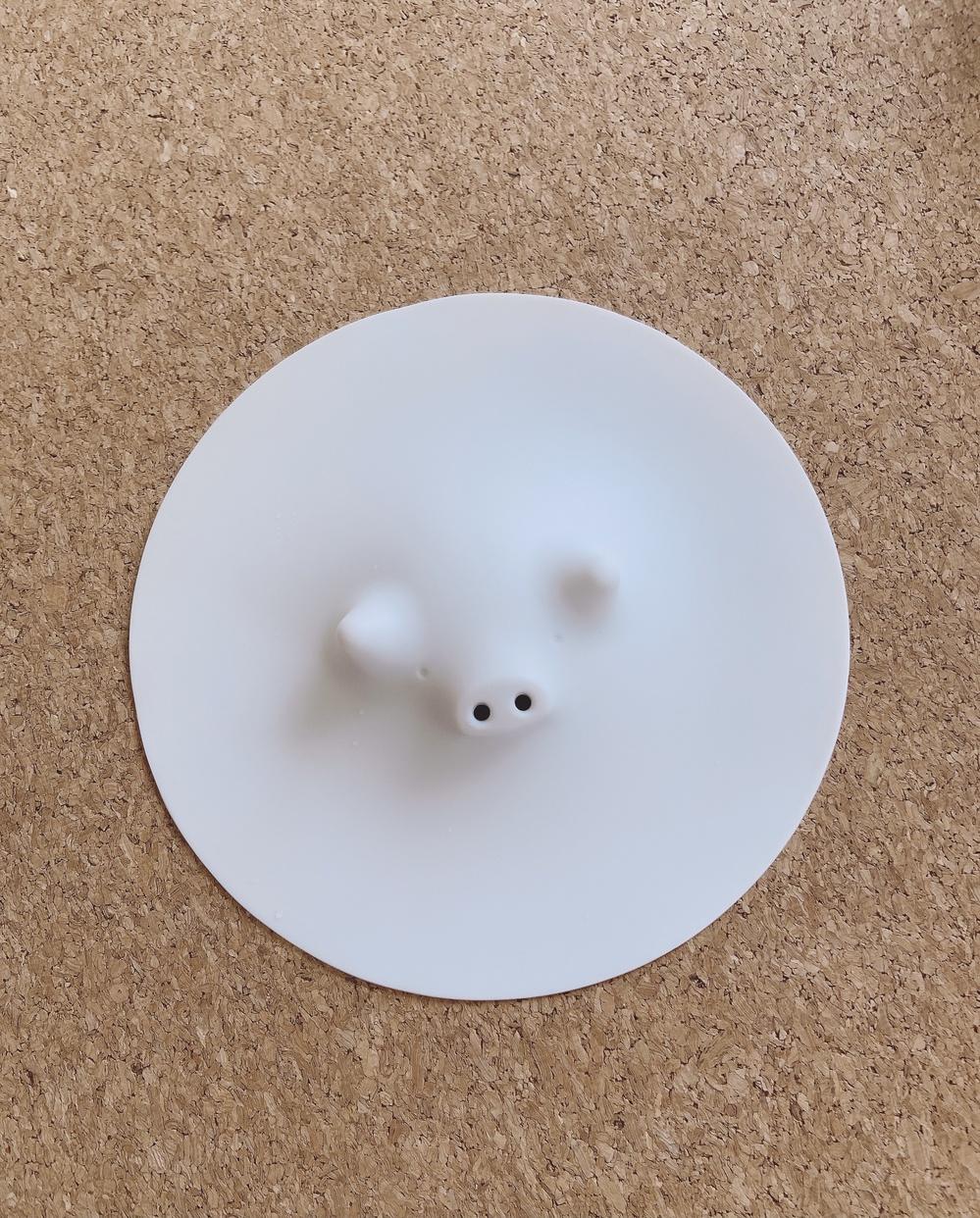 MARNA(マーナ)コブタの落としぶた ホワイト K091を使ったfumikaさんのクチコミ画像1