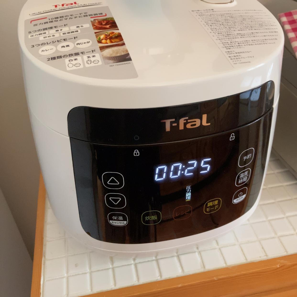 T-fal(ティファール)ラクラ・クッカー コンパクト電気圧力鍋 CY3501JPを使ったもりもりさんのクチコミ画像1