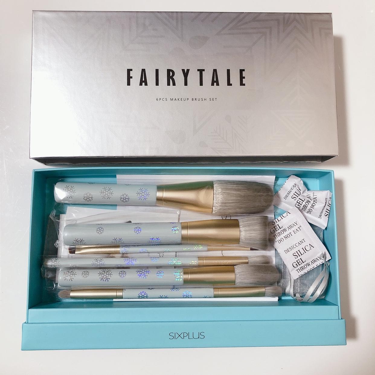 SIXPLUS(シックスプラス)メイクブラシ 6本セット Fairytaleシリーズを使った桜羽さんのクチコミ画像2