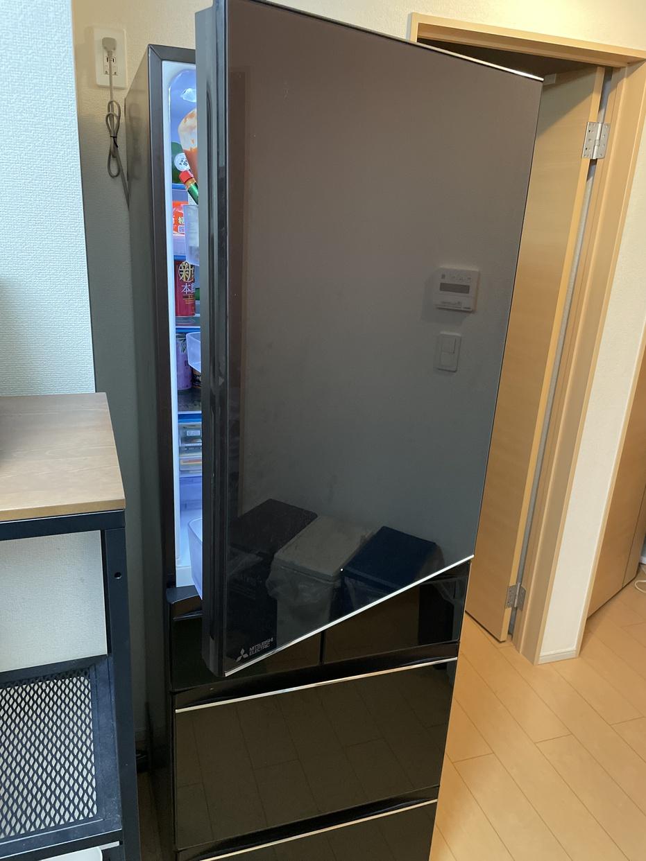 三菱電機(MITSUBISHI ELECTRIC)冷蔵庫 MR-MB45E-ZTを使ったシェアハウス_ラビアンローズさんのクチコミ画像1