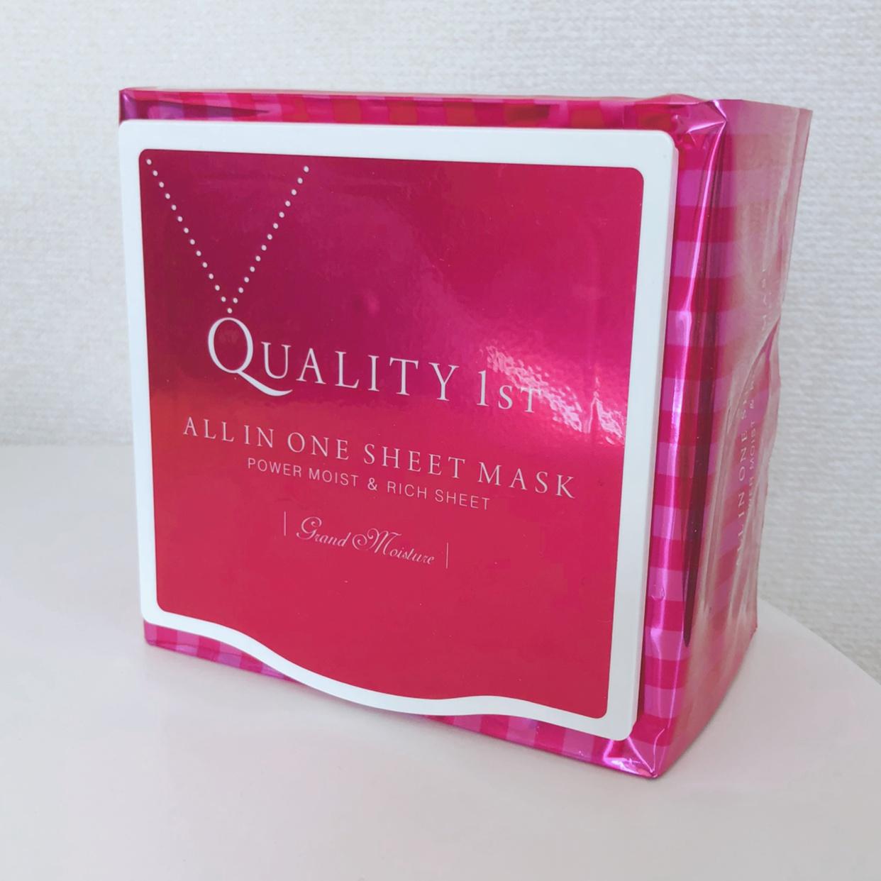 Quality 1st(クオリティファースト) オールインワンシートマスク グランモイストを使ったn a oさんのクチコミ画像1
