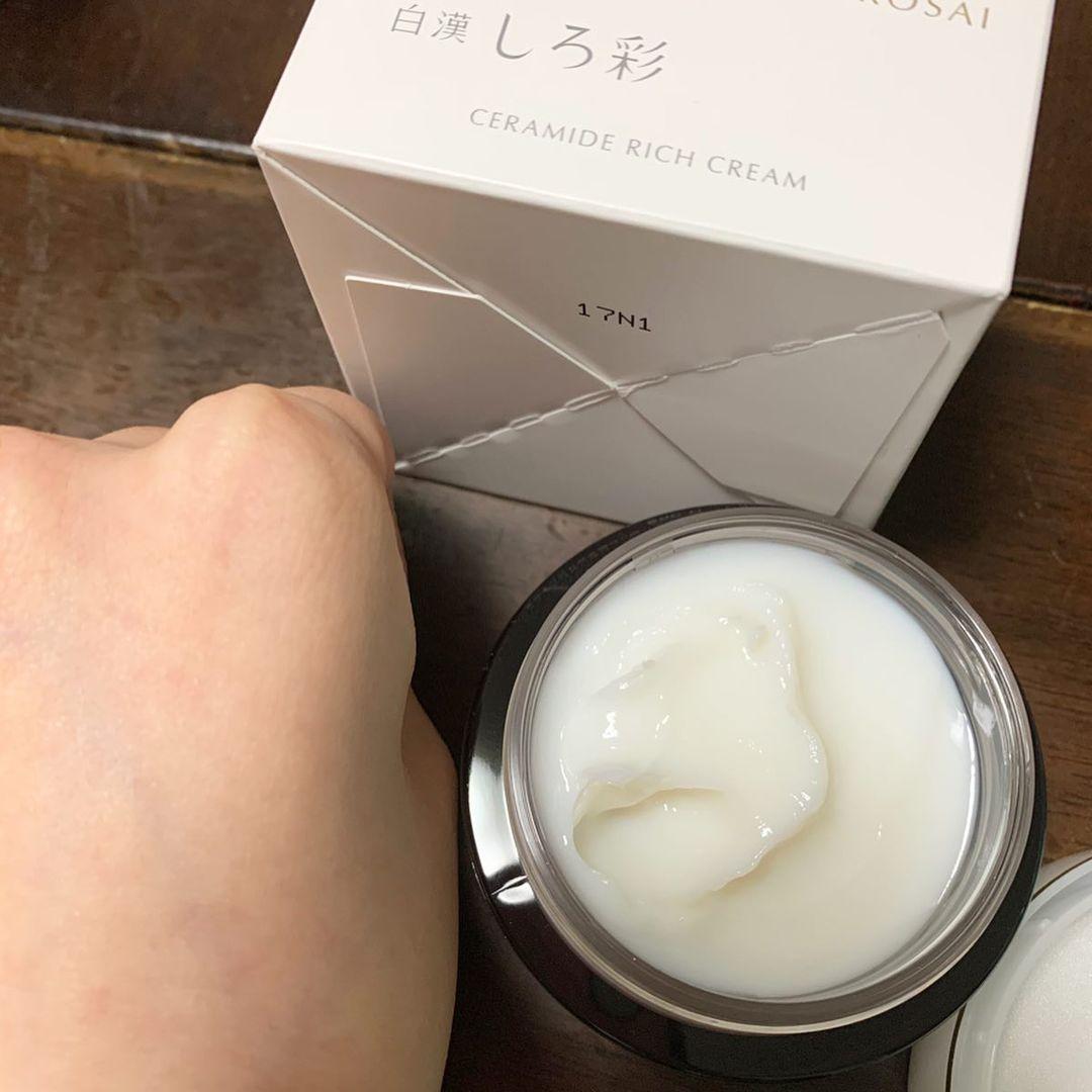 白漢 しろ彩(はっかん しろさい)セラミドリッチクリームを使った AKIさんの口コミ画像4