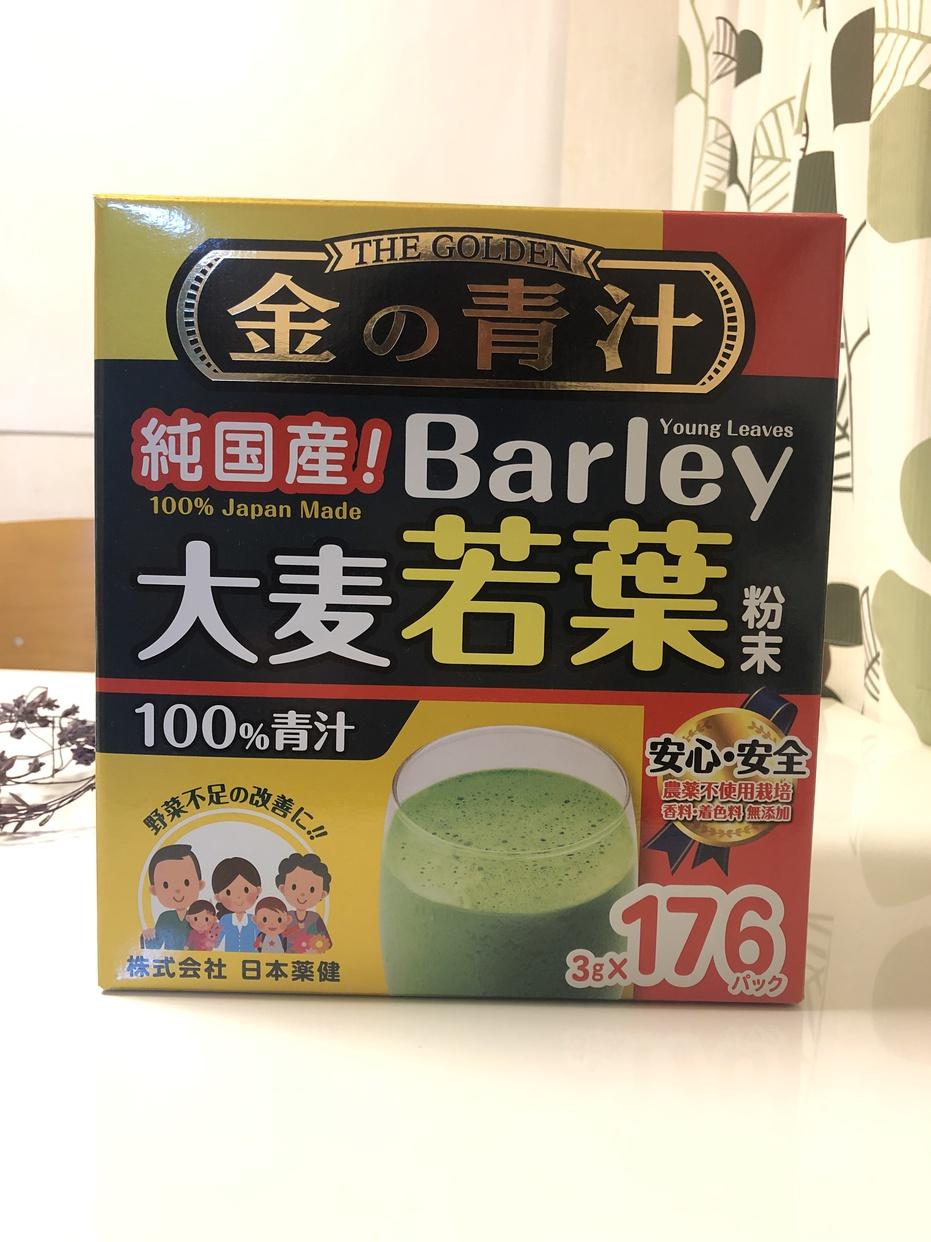 日本薬健 金の青汁 純国産大麦若葉100%粉末を使ったサトウウサコさんのクチコミ画像