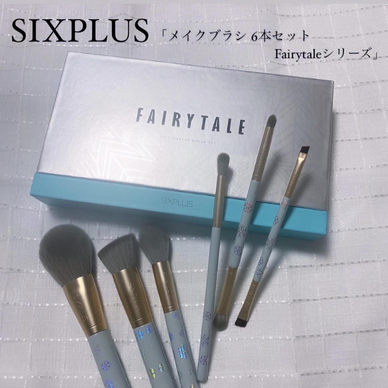 SIXPLUS(シックスプラス)メイクブラシ 6本セット Fairytaleシリーズを使ったfukaさんのクチコミ画像1