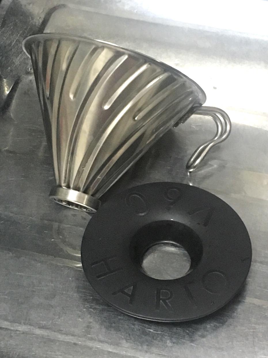 HARIO(ハリオ)V60メタルドリッパー シルバー VDM-02HSVを使ったけろやまさんのクチコミ画像2