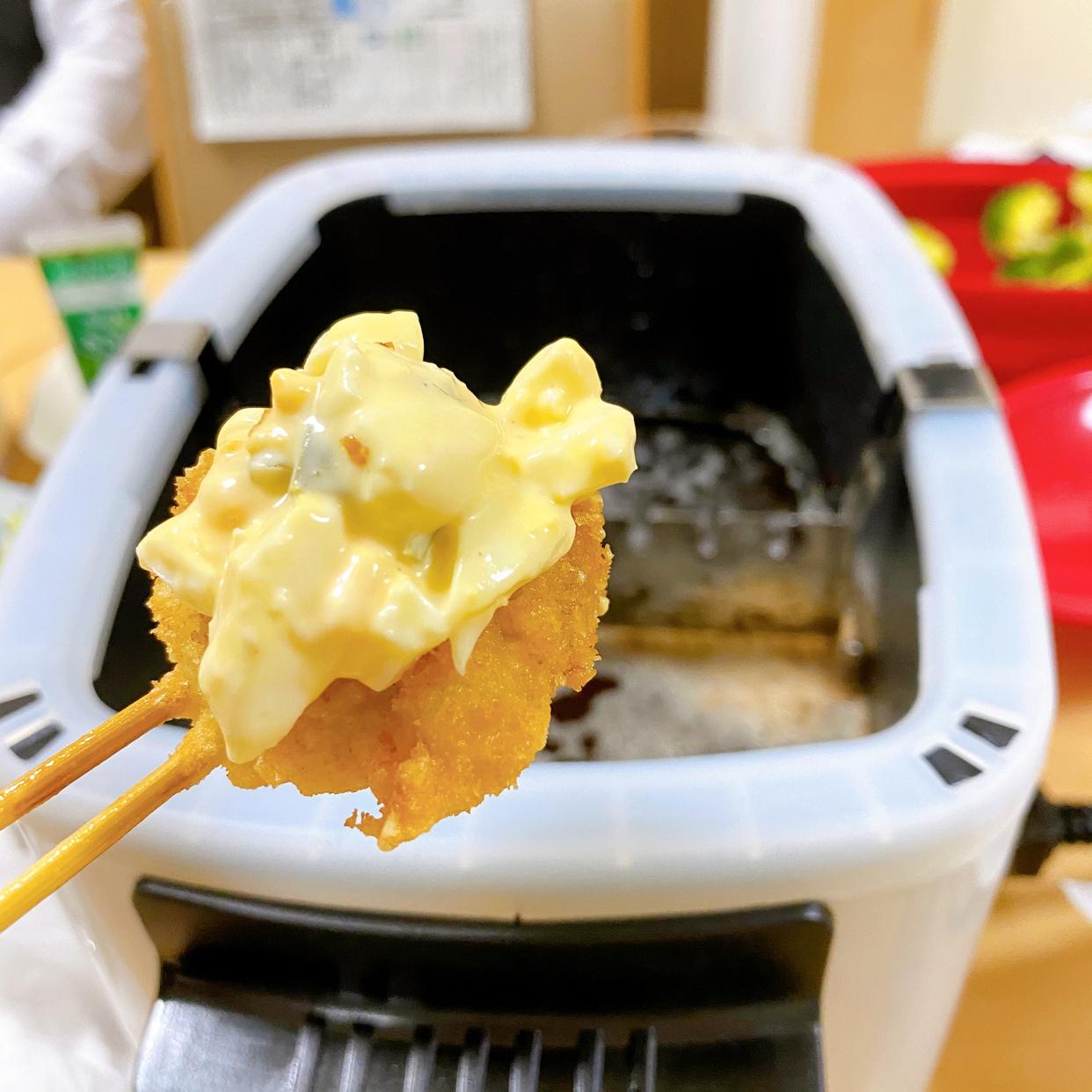 山善(YAMAZEN)電気フライヤー  揚げ物の達人 YAC-M121(W)を使ったみーそらmamaさんのクチコミ画像2