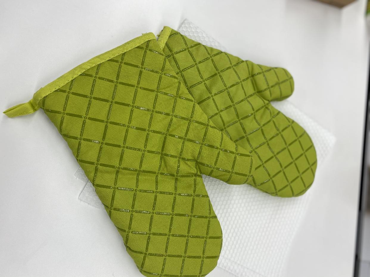 yodda(ヨッダ)鍋つかみ シリコンチェック 耐熱ミトン(2個セット) (グリーン)を使ったICHIMIさんのクチコミ画像1