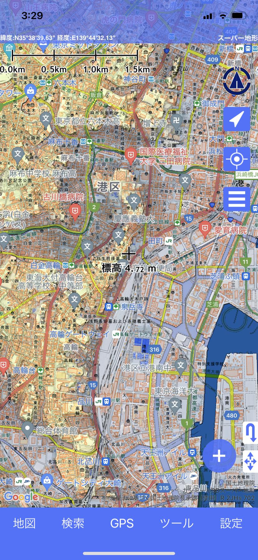 kashmir3D(カシミール3D)スーパー地形を使ったヨコさんのクチコミ画像1