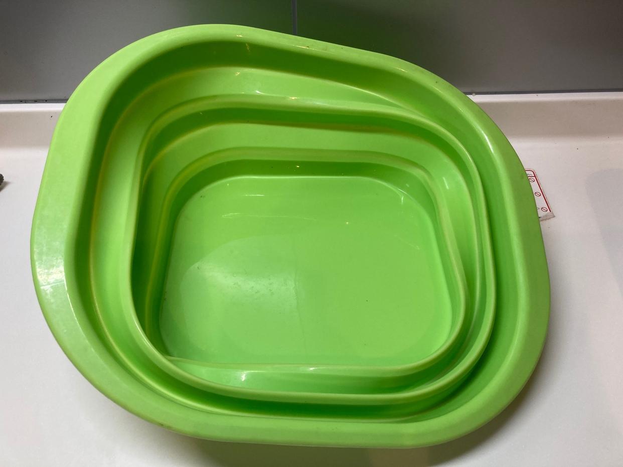 AIMEDIA(アイメディア)たためるシリコン洗い桶 グリーンを使ったpaseri さんのクチコミ画像2
